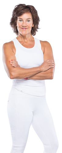 woman fitness trainer white online courses